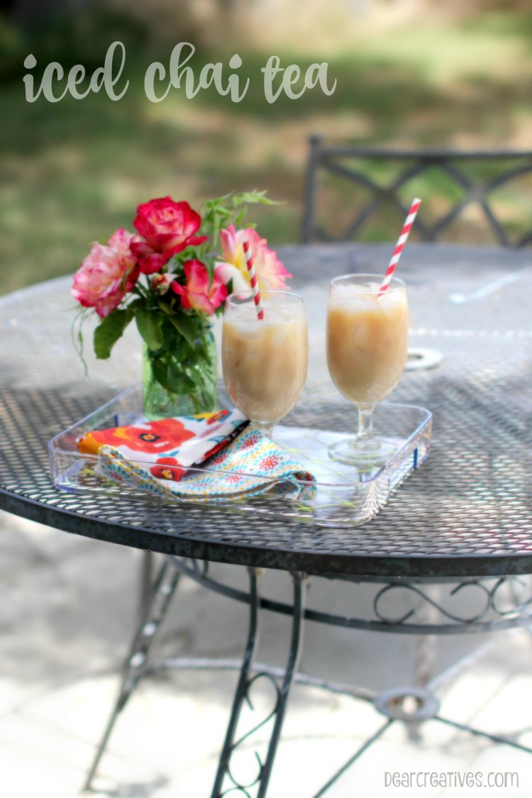 Drinks | Iced Chai Tea Drinks and coffee drinks perfect for spring and summer