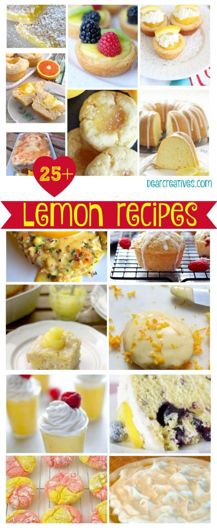 Calling All Lemon Lovers! Lemony Goodness 25+ Lemon Recipes You'll Want!