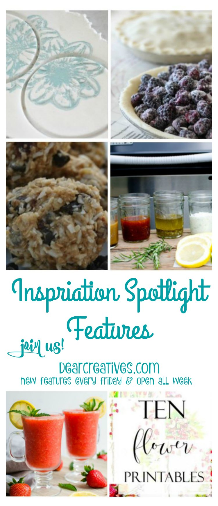 Linkup Party Inspiration Spotlight 196 DearCreatives.com | A blogging party where bloggers share their favorite crafts, DIY, beauty & fashion, blogging tips and recipes.