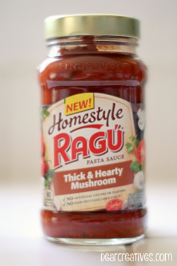 Easy Recipes | New Homestyle Ragu Pasta Sauce Thick & Hearty Mushroom helps make this easy slow cooker chicken cacciatore recipe