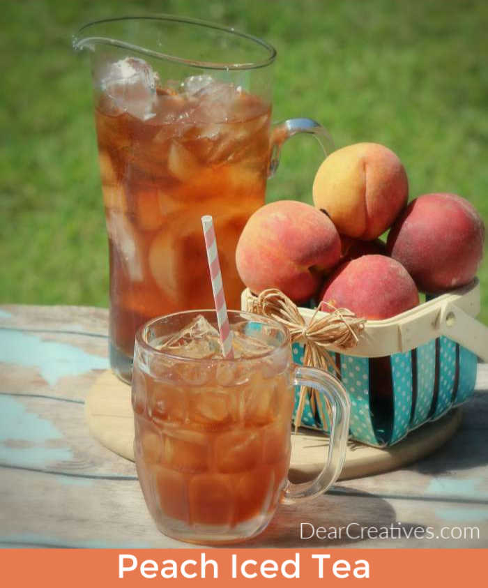 Peach-Iced-Tea-Easy-to-make-and-serve-Great-for-spring-summer-and-parties.-You-can-use-frozen-peaches-if-peaches-arent-in-season-This-is-so-good-DearCreatives.com