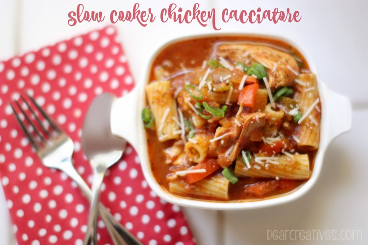 Slow Cooker Chicken Cacciatore | How to cook chicken cacciatore in the slow cooker