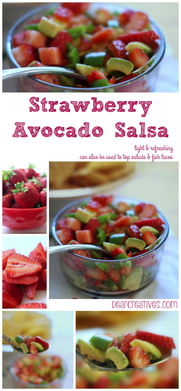 Appetizer Recipes: Strawberry Avocado Salsa | An easy appetizer recipe that can be made ahead of time | party appetizer recipe