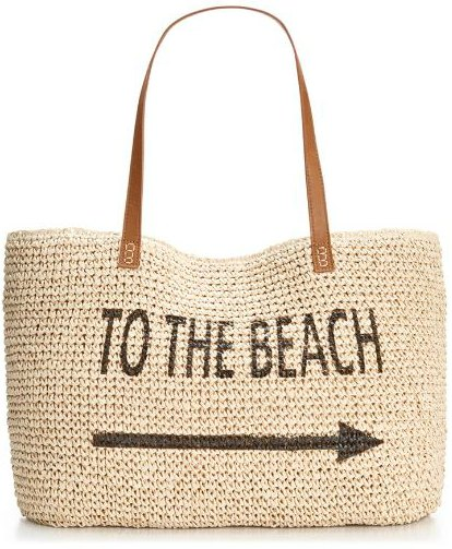 Style & Co. Straw Beach Bag, Only at Macy's-2