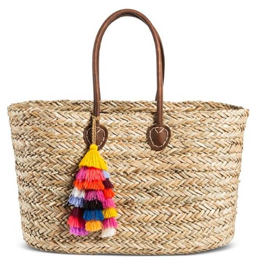 Womans Straw Tote Bag