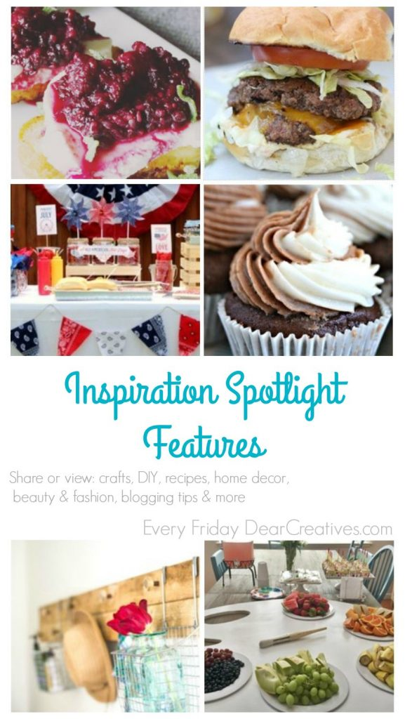 Inspiration Spotlight 200 DearCreatives.com| Linkup Party where bloggers share their favorite blogging tips, crafts, DIY, recipes, beauty & fashion, sewing and more! Stop by grab ideas, tutorials &...