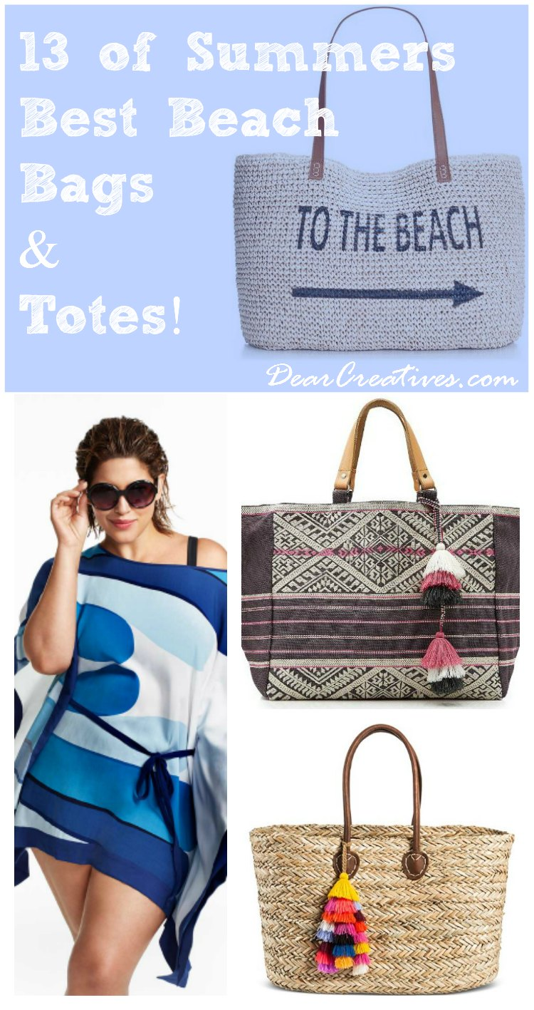 Tote Bags: 13 Summer's Best Beach – Pool Tote Bags!