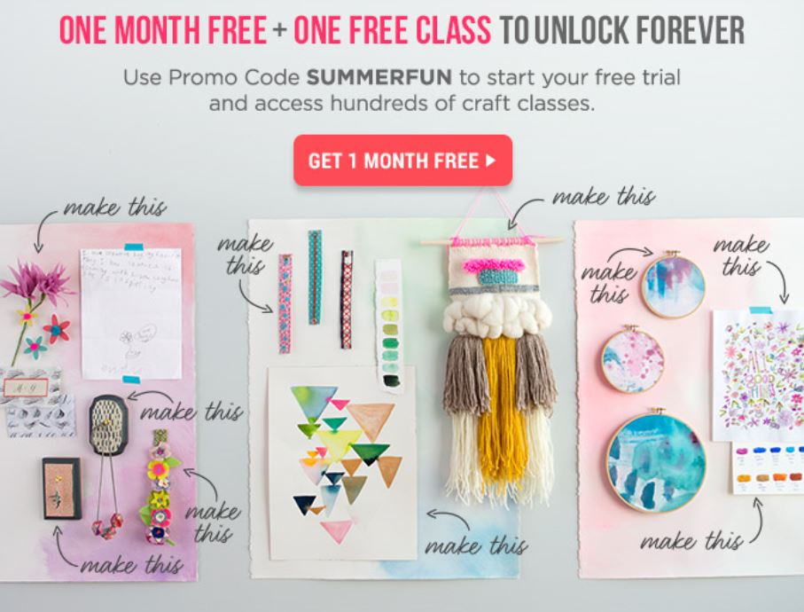 Online Classes For Kids To Adults! DIY Crafts – 1 Month Free!