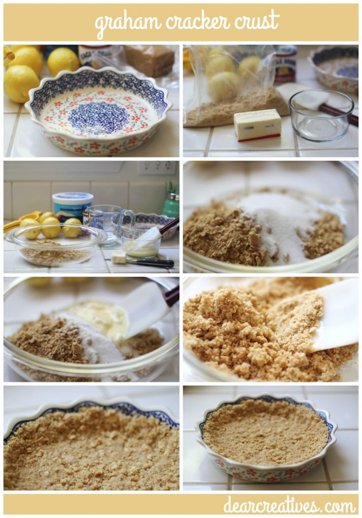 Pie Crusts For Bake and No Bake Desserts | how to make graham cracker crust