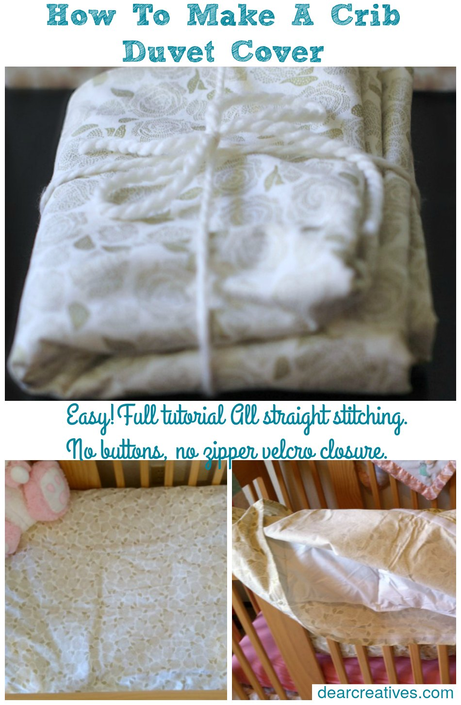 Easy DIY baby shower gift ideas for you to make | sewing | how to make a crib size duvet cover