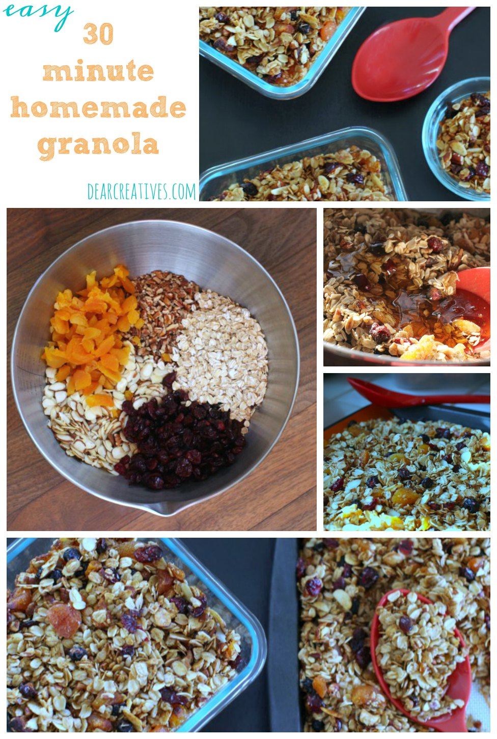 Under 30 minutes Delicious Homemade Granola Recipe
