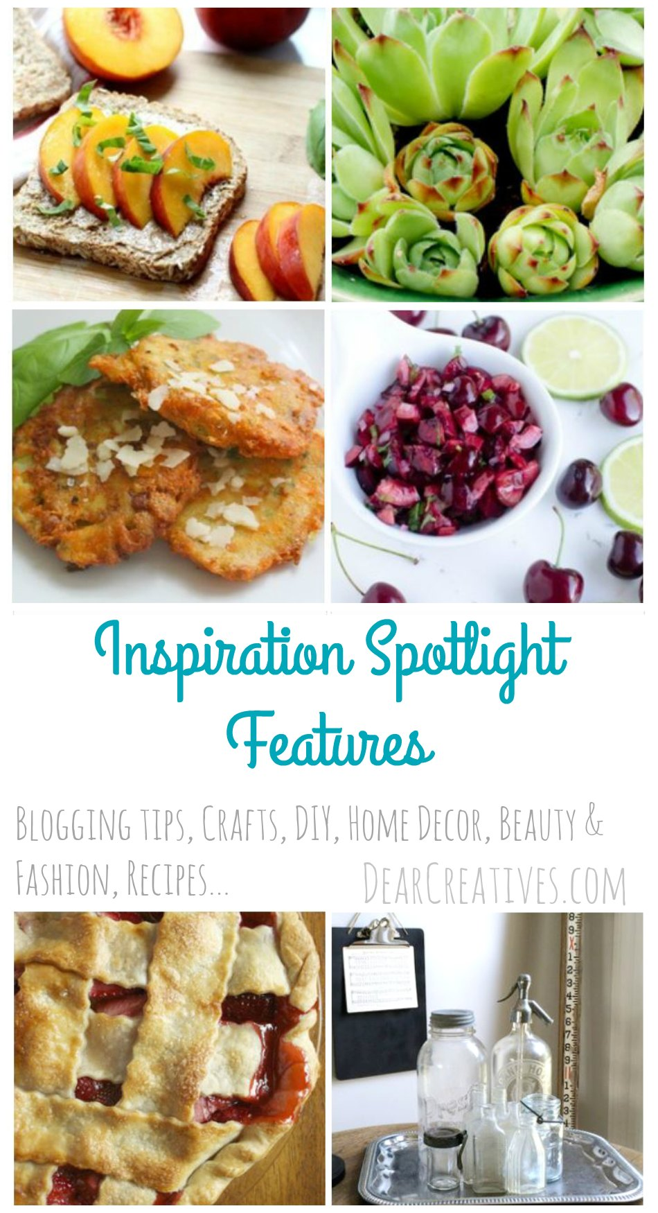 Inspiration Spotlight Linkup Party where bloggers share their favorite blogging tips, crafts, DIY, recipes, beauty & fashion, sewing and more! Stop by grab ideas, tutorials &...