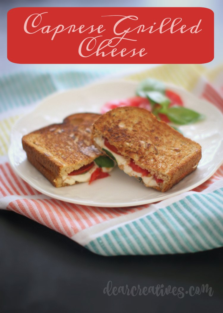 Sandwich Recipes Grilled Cheese Caprese Tomatoes, Mozzarella Cheese and basil grilled on bread
