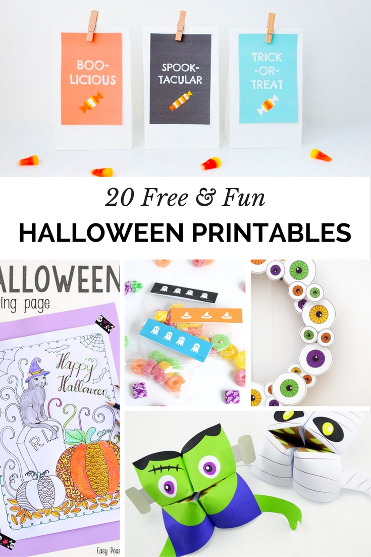 20 Free and Fun Printables For Halloween