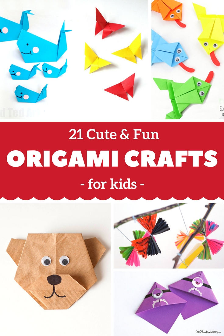 Crafts For Kids | Origami | 21 Cute & Fun Origami Crafts For Kids