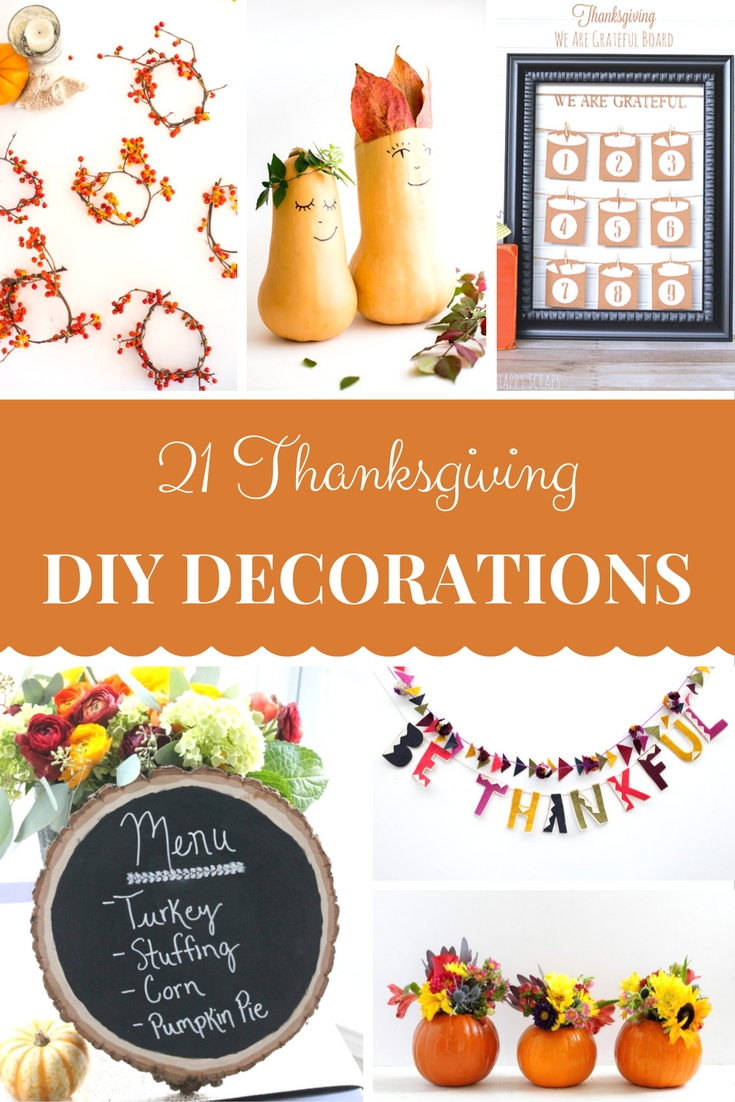 21 Thanksgiving crafts and DIY Decorations to set the mood for your Thanksgiving dinner
