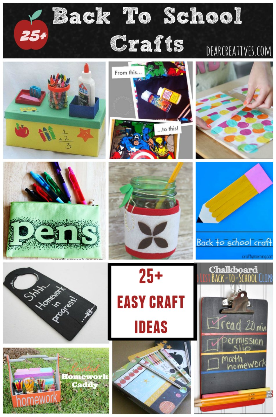 Back To School Crafts 25 Plus Easy And Fun Crafts Projects