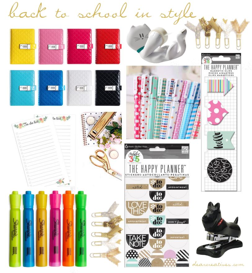 Back To School School Supplies Stylish School Supplies