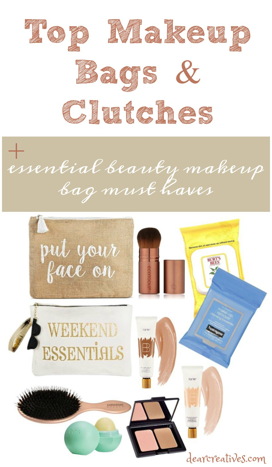 Beauty Makeup Bags And Beauty Essentials So many to choose from. We break down what's new and needed with a few beauty tips to help you!