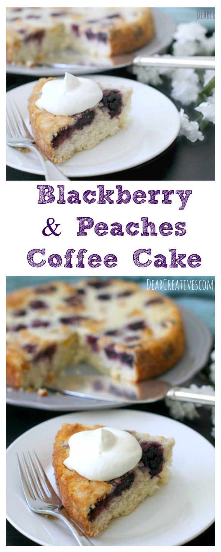 Cake Recipes Blackberries And Peaches Coffee Cake This cake recipe is a cross between a coffee cake and upside down cake. It's easy to make and pairs well with coffee, tea or iced tea