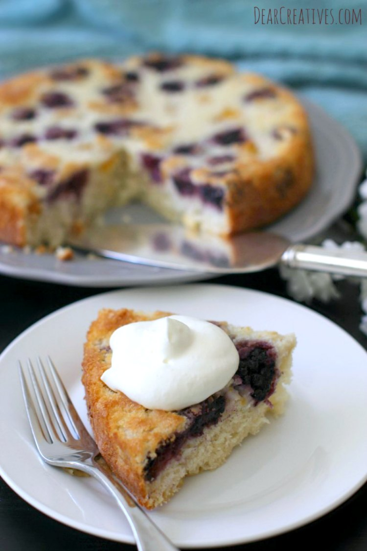 Cake Recipes Blackberry And Peaches Coffee Cake This is an easy recipe. Pairs well with coffee, tea or iced tea. Topped with whip cream. Great for a get together.