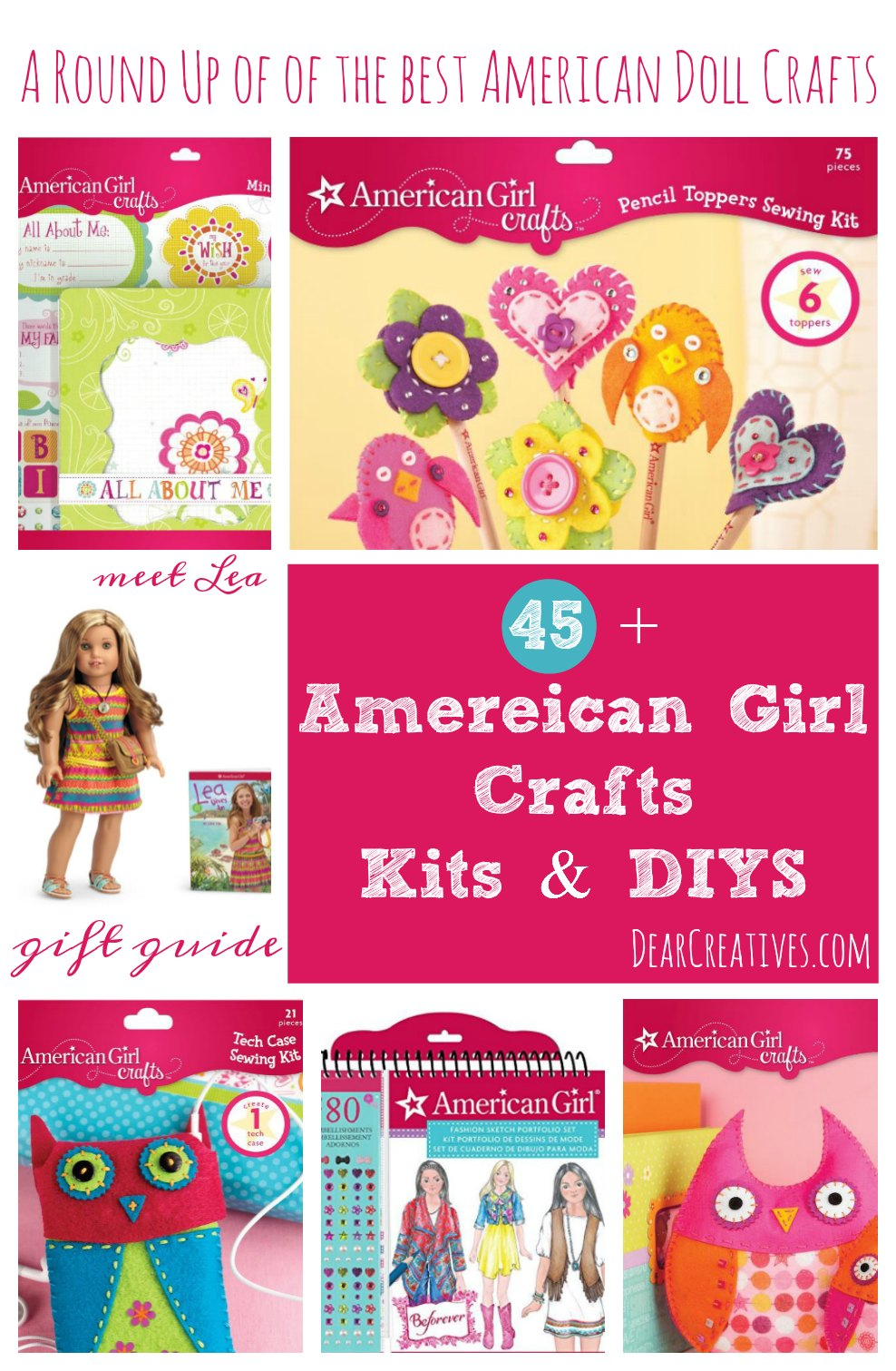 Craft Kits A Round up of the best American Doll Crafts, Craft kits and DIYs for kids to craft with. So many to choose from!