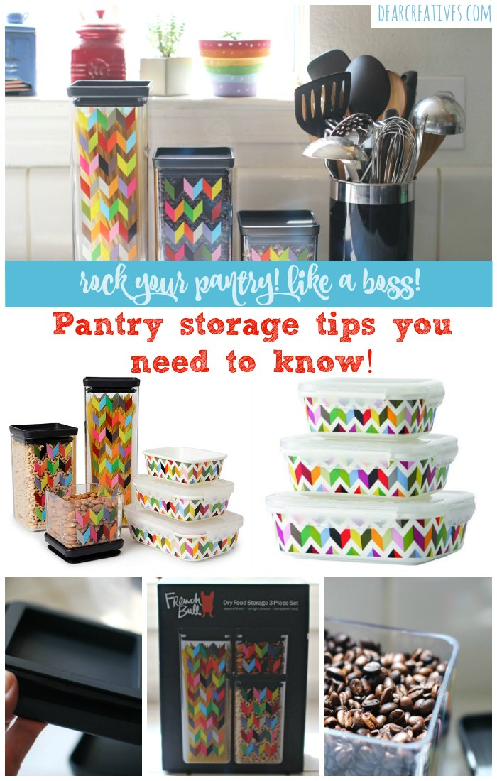 Pantry Storage Tips and Ideas that you need to know to rock your pantry like a boss! Food safety and storage ideas see all the tips at DearCreatives.com