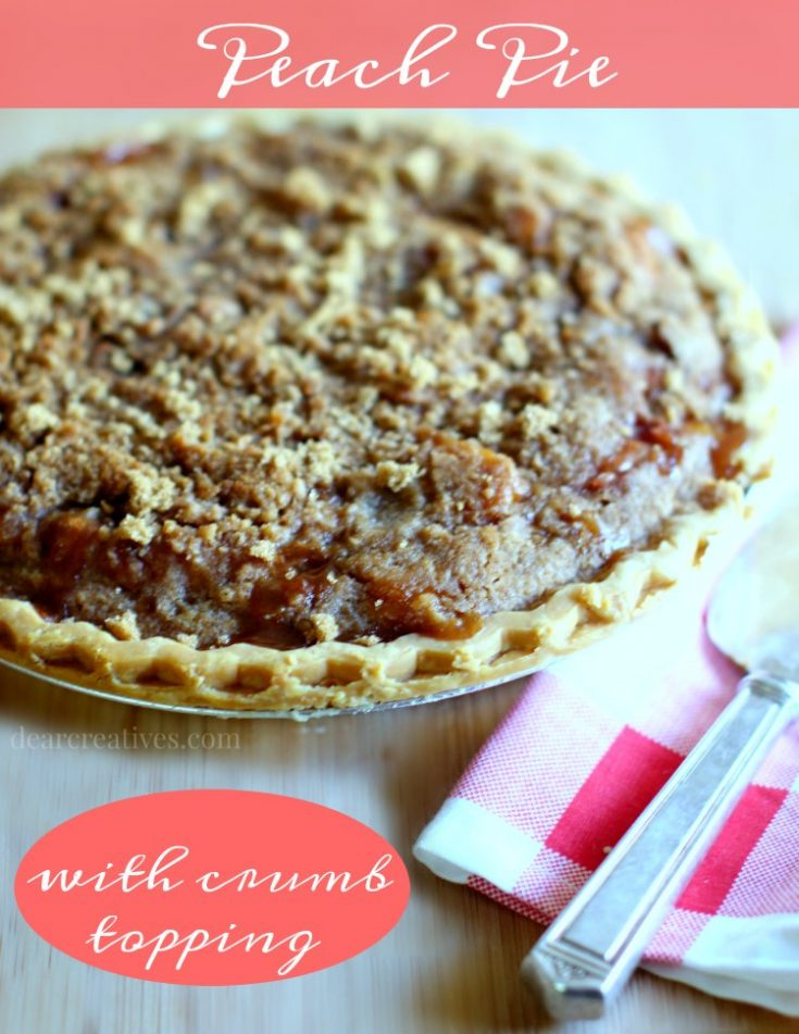 Peach pie Recipe | Peach Pie With Crumb Topping - This is such an easy peach pie to make. With resources for how to cut peaches, make a pie crust. But, you can make it quickly by using a pre-made pie crust. This is such a delicious peach pie which can be topped with whip cream or vanilla ice cream.