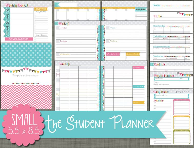 back to school supplies | student planner