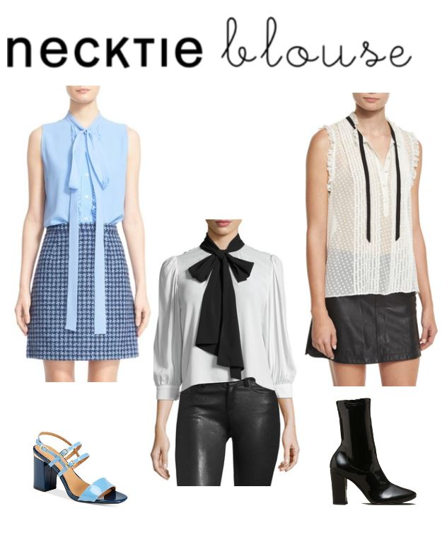 Women's Fashion Trends The New Necktie Blouse