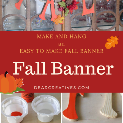 Are you looking for easy ways to decorate for fall? Make fall crafts and DIY decor like this DIY fall banner! This fall banner is made with rope/twine, faux flowers, wood letters, and is easy to make! DearCreatives.com