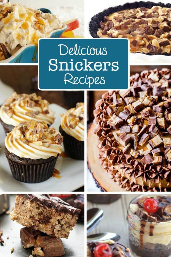 10+ Snickers Dessert Recipes Made Using Snickers Bars!