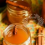 Spiced Apple Cider Recipe | spiced-apple-cider drink recipe for fall that anyone can make at home for fall gatherings, holidays or parties. Looks so cute served in mason craft jars! Perfect for fall crafting parties too!