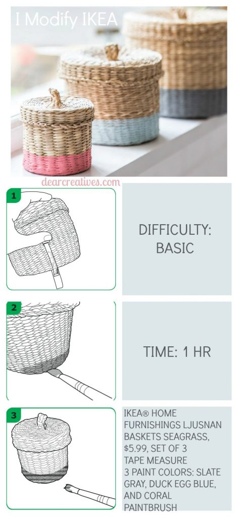 Book Review and DIY Projects i-modify-ikea-painted-storage-basket-diy-dearcreatives-com