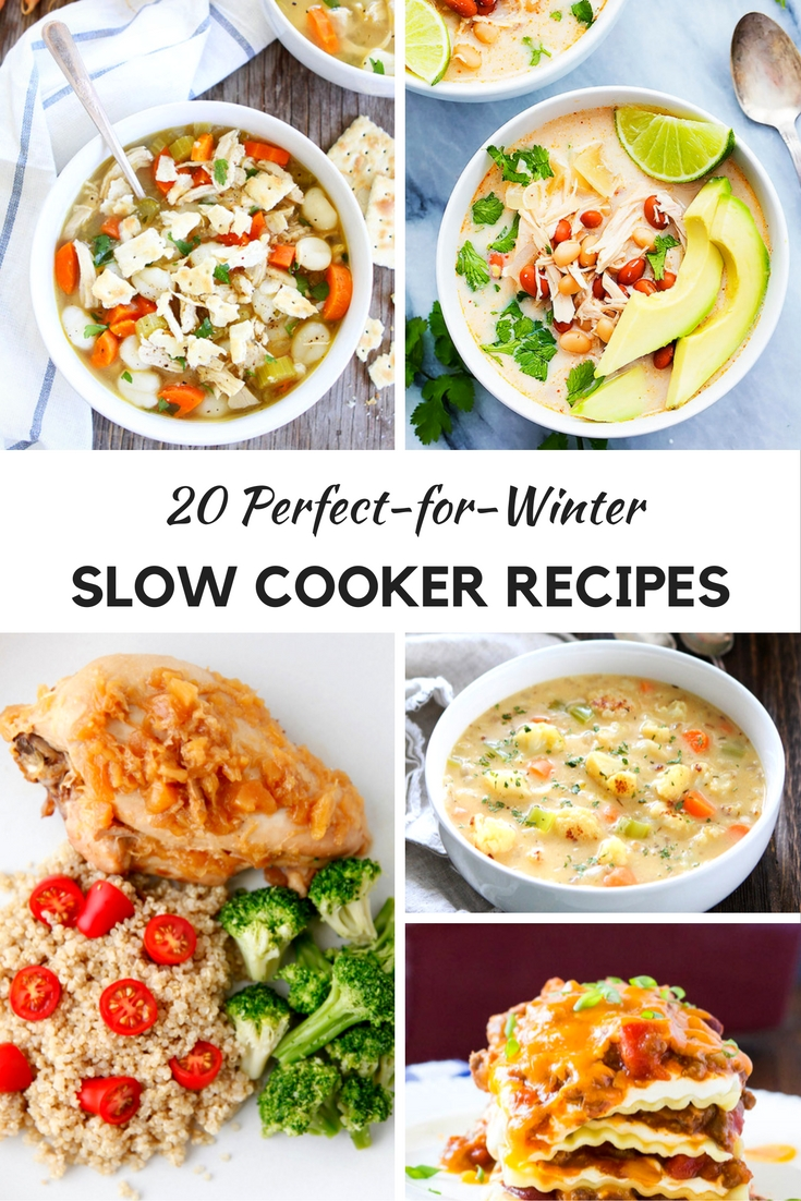 Slow Cooker Recipes and Crockpot Recipes that are perfect for fall and winter. Soups, stews and other recipes that you can easily make and serve when done So many to choose from in this roundup!