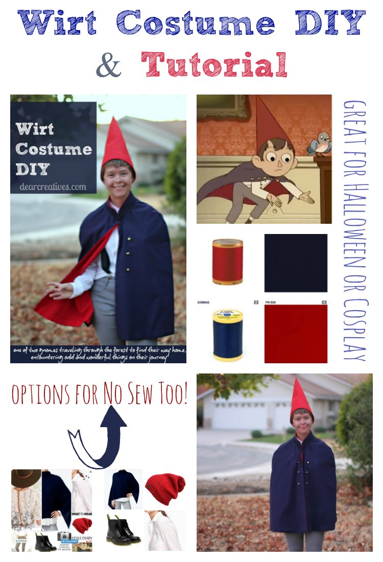 Wirt Costume DIY  | Easy To Make Sew And No Sew Options