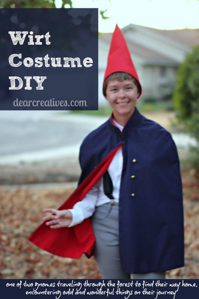 Wirt Costume DIY | Wirt from Over The Garden Wall Costume DIY with sewing and no sew options. Easy to make and a great costume for parties, cosplay and Halloween