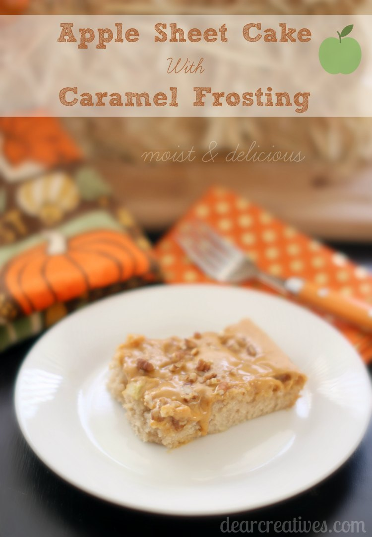 Apple Sheet Cake Recipe With Caramel Frosting