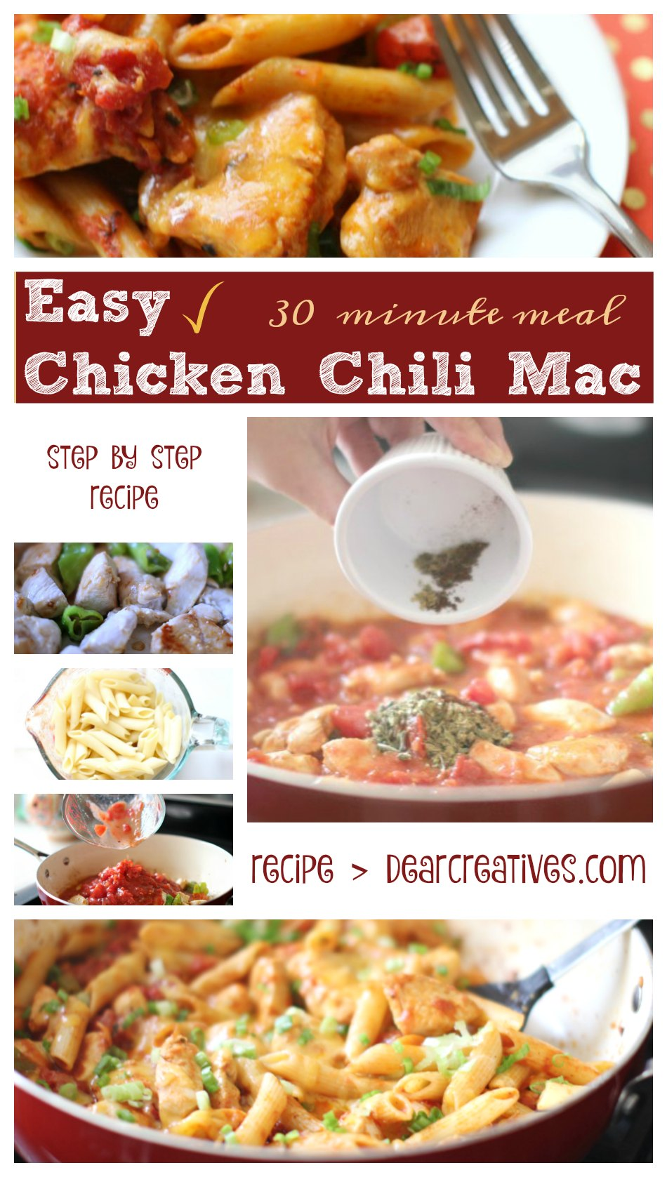 Chicken Chili Mac An Easy chicken recipe. Cooks up in 30 minute recipe that the whole family will enjoy!