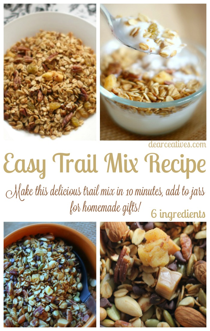 Easy Trail Mix Recipe Eat Or Make As A Gift In A Jar