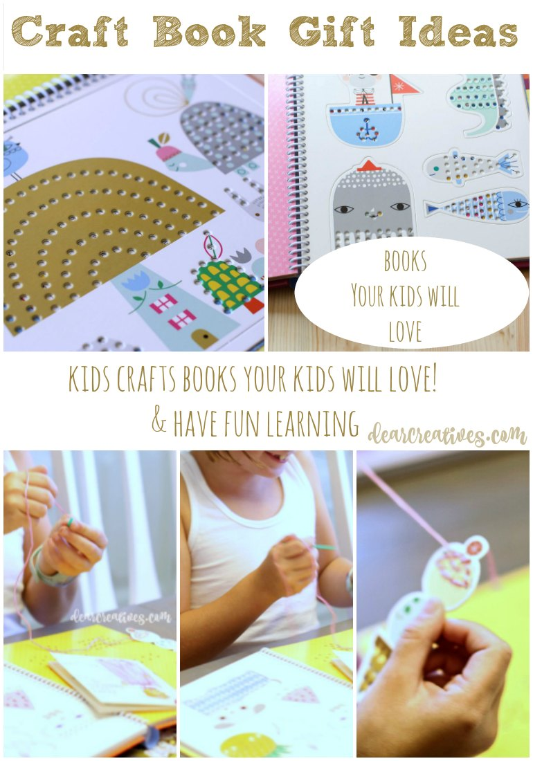 Kids Crafts Book to Help Kids Learn to Hand Sew and Cross Stitch