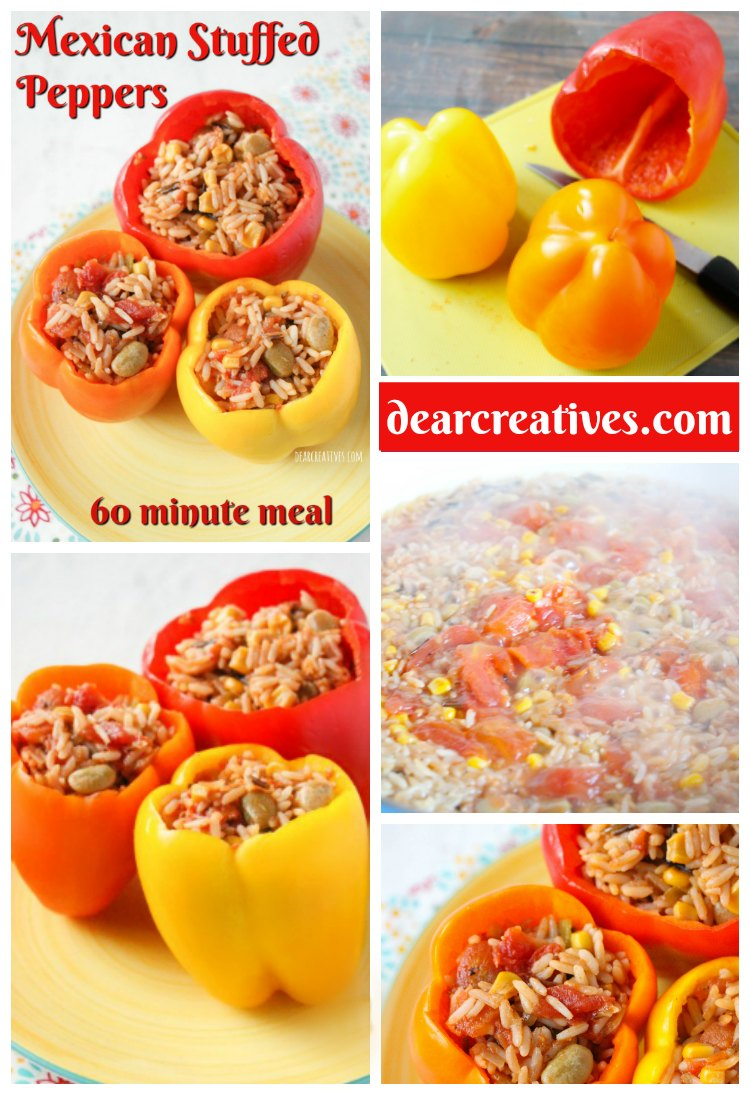 Mexican Stuffed Peppers Easy To Make In 1 Hour Or Less!