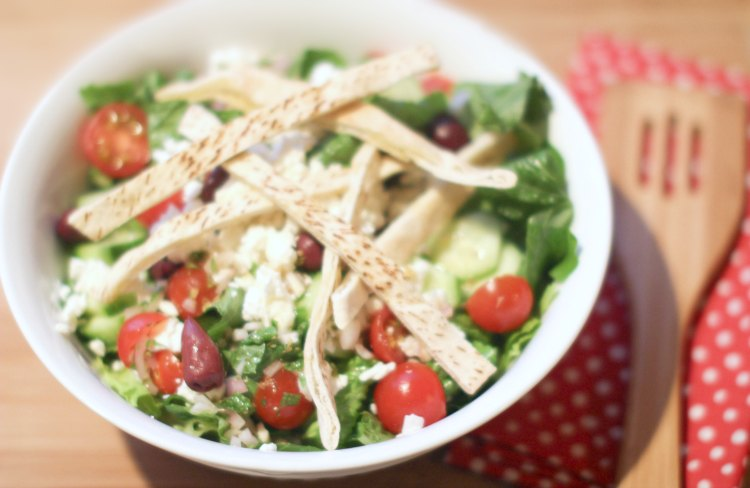 meal kit service meal planning Chefd Greek Chicken Salad without the chicken added DearCreatives.com