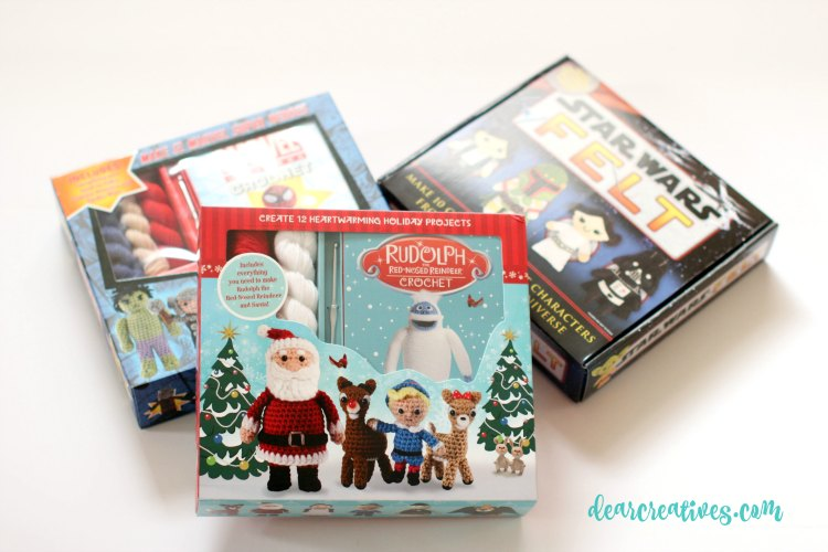 craft kits rudolph red nosed reindeer crochet crafting kit DearCreatives.com