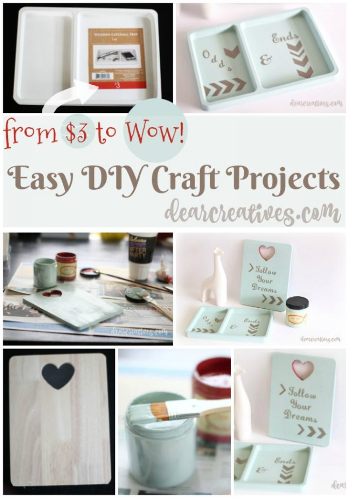 DIY Craft Projects that anyone can do. You'll love transforming your projects with chalk paint and a few other supplies!