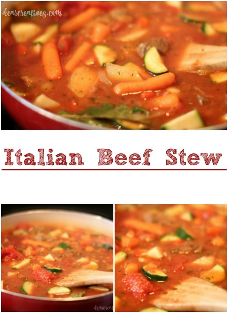 Easy Recipe Italian Beef Stew A family favorite for dinners. This recipe is easily adaptable and can be served over noodles.