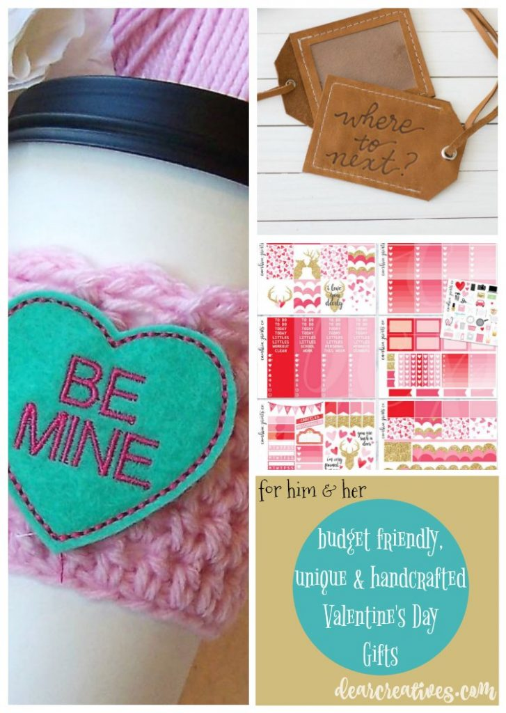 Gift Ideas budget friendly hand-crafted Valentine's Day gift ideas they'll love getting. Many ideas to pick from!
