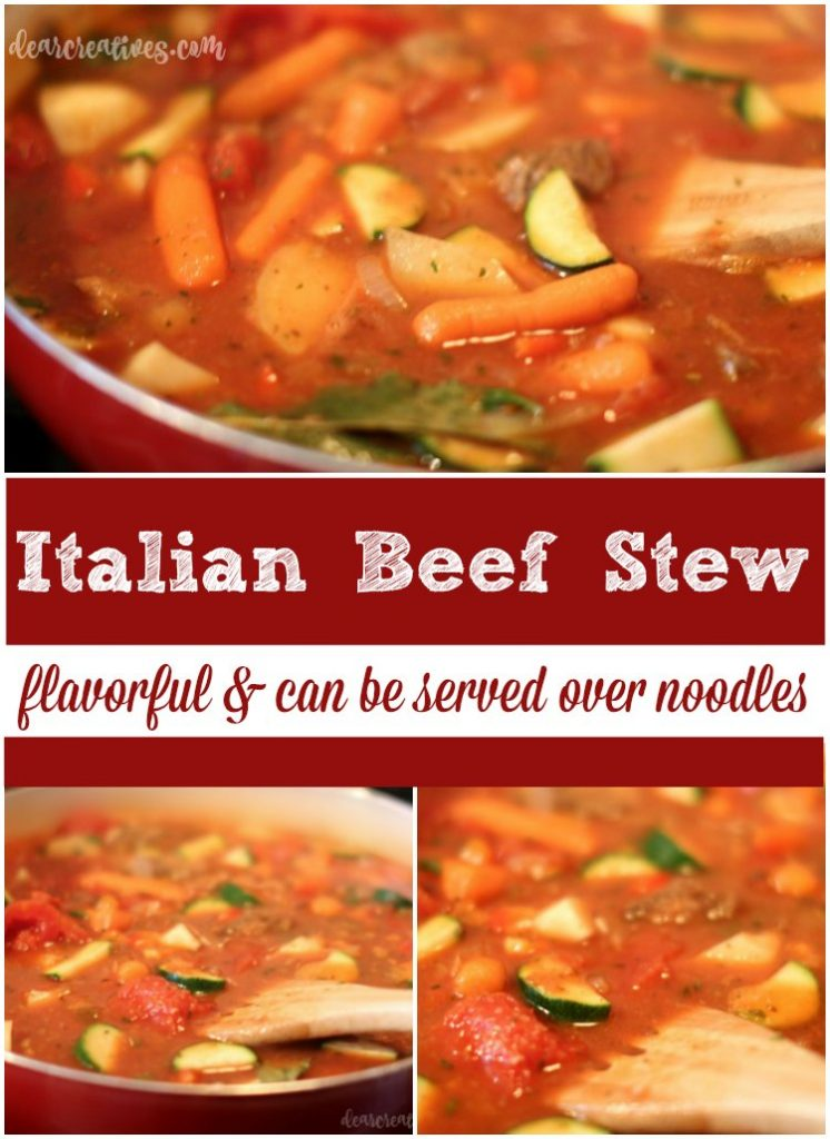 Italian Beef Stew Recipe This is an easy recipe that can be served over noodles. A dinner recipe that will become a family favorite.