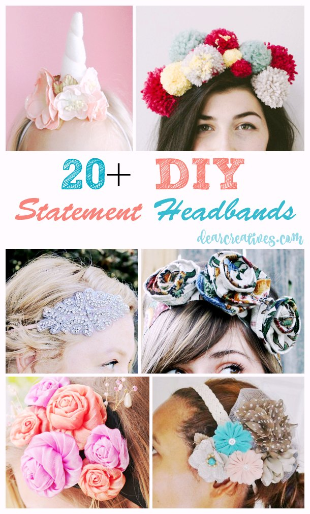 Fun And Easy DIY Statement Headbands Tutorials You'll Love Making