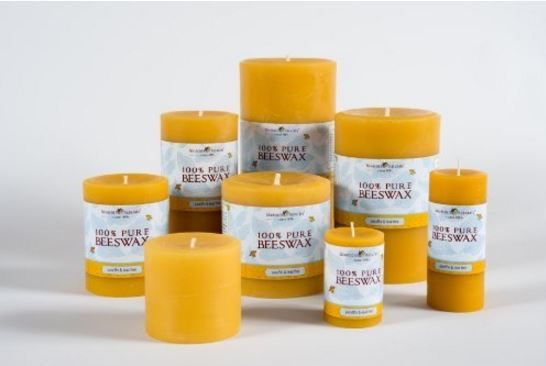 Beeswax candles various sizes and colors